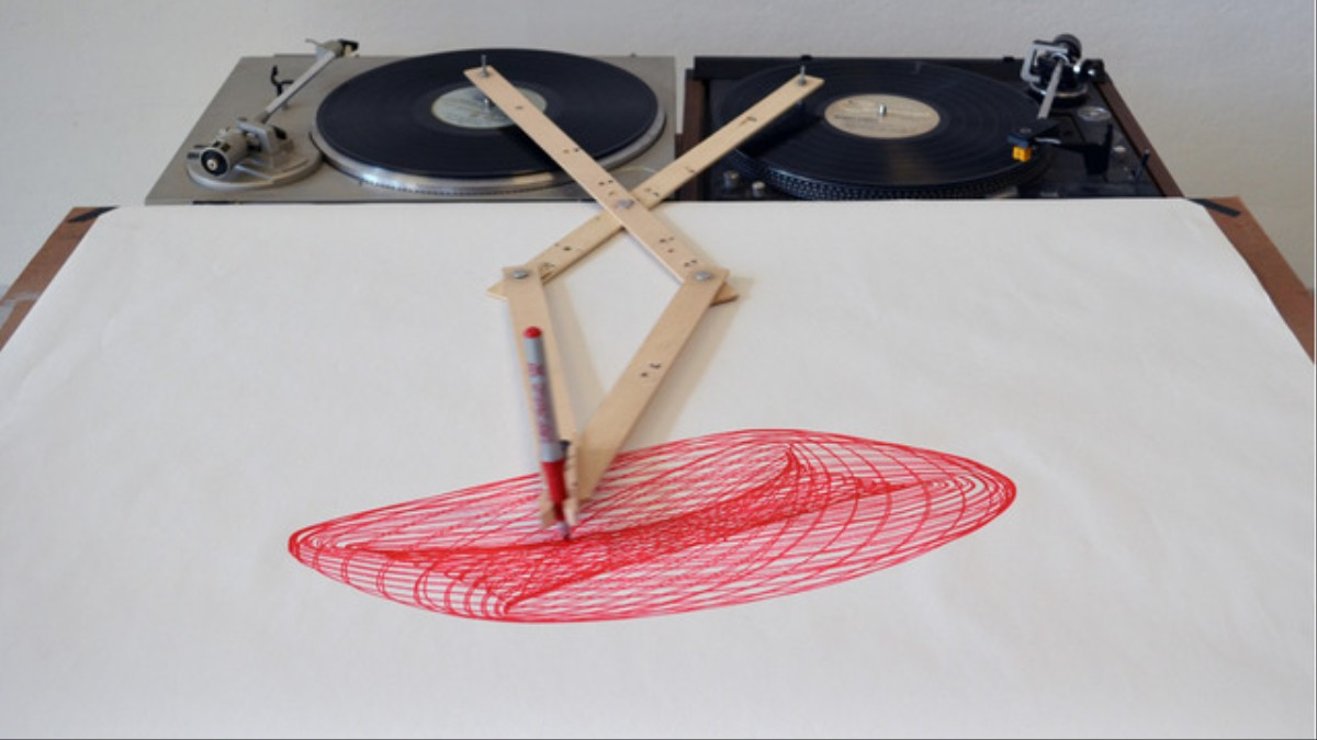 Marvelous Two Turntables Are A Drawing Machine Vice Download Free Architecture Designs Rallybritishbridgeorg