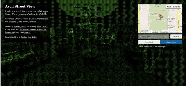 Google Street View's Days Get Numbered With An ASCII Art Version - VICE