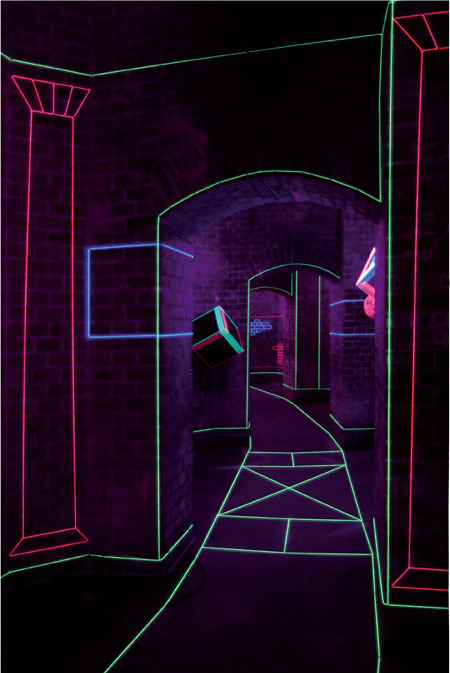 Colored Thread And Uv Lights Form Captivating Augmented