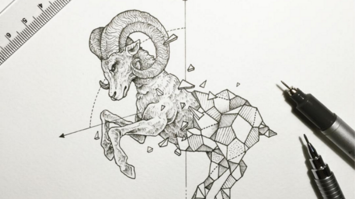 Creatures Morph into Minimalist Ink Crystals | Monday Insta Illustrator