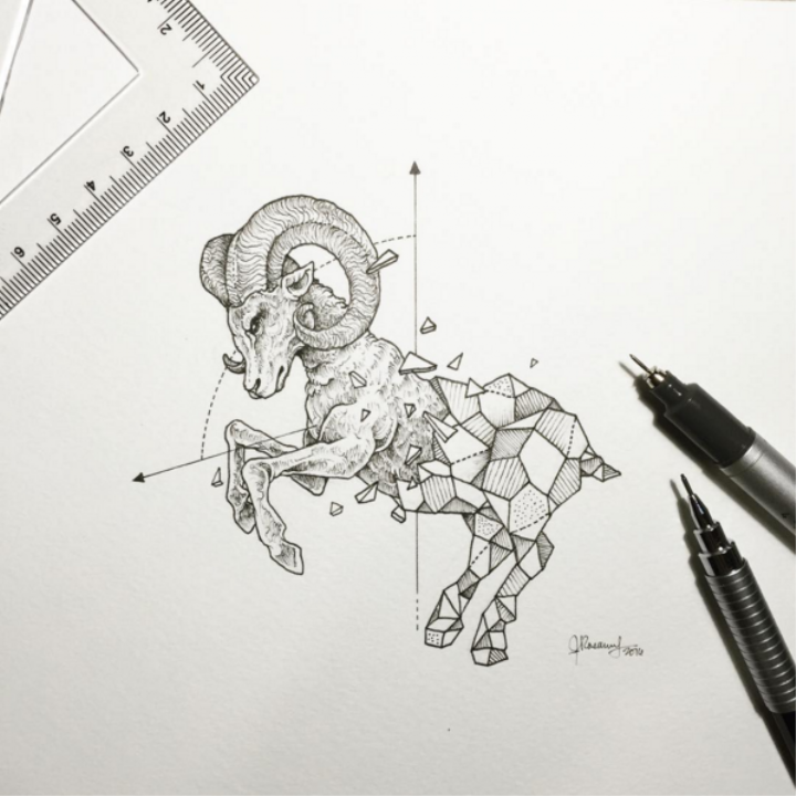 Creatures Morph into Minimalist Ink Crystals | Monday Insta Illustrator - VICE