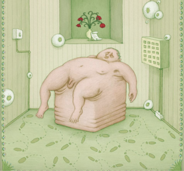 """Body Drawings Capture the Worst of """"The Mondays"""" 