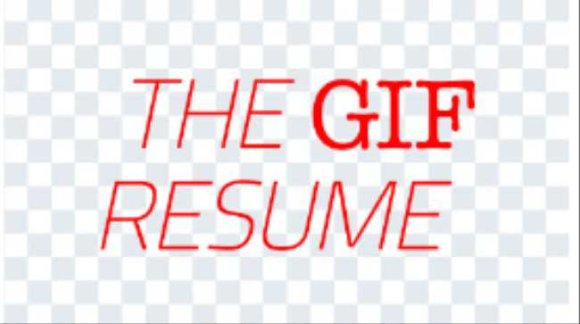 people are now making resumes entirely out of gifs creators
