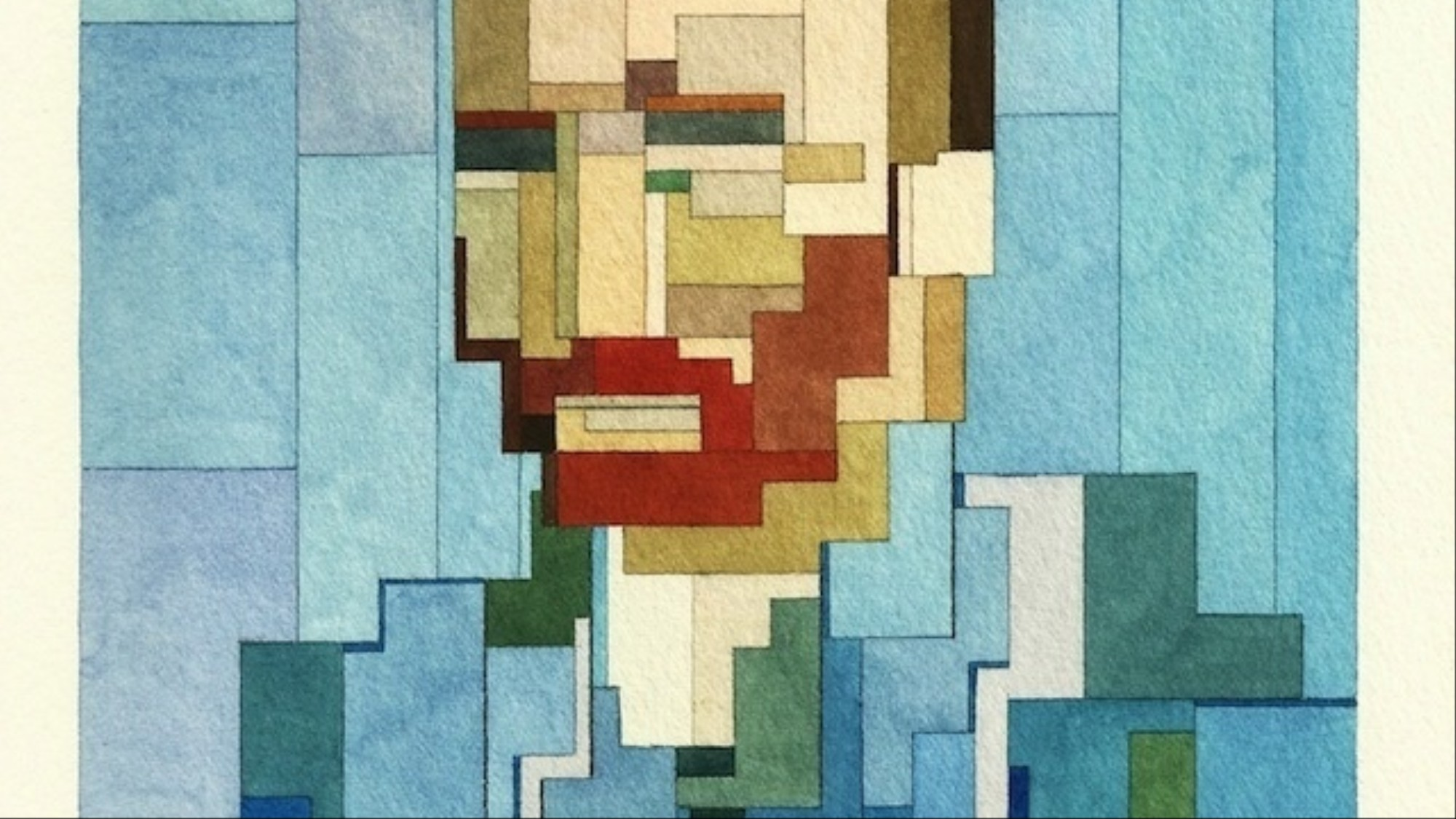 Watercolor Pixel Art Portraits Remix Pop Culture Classic