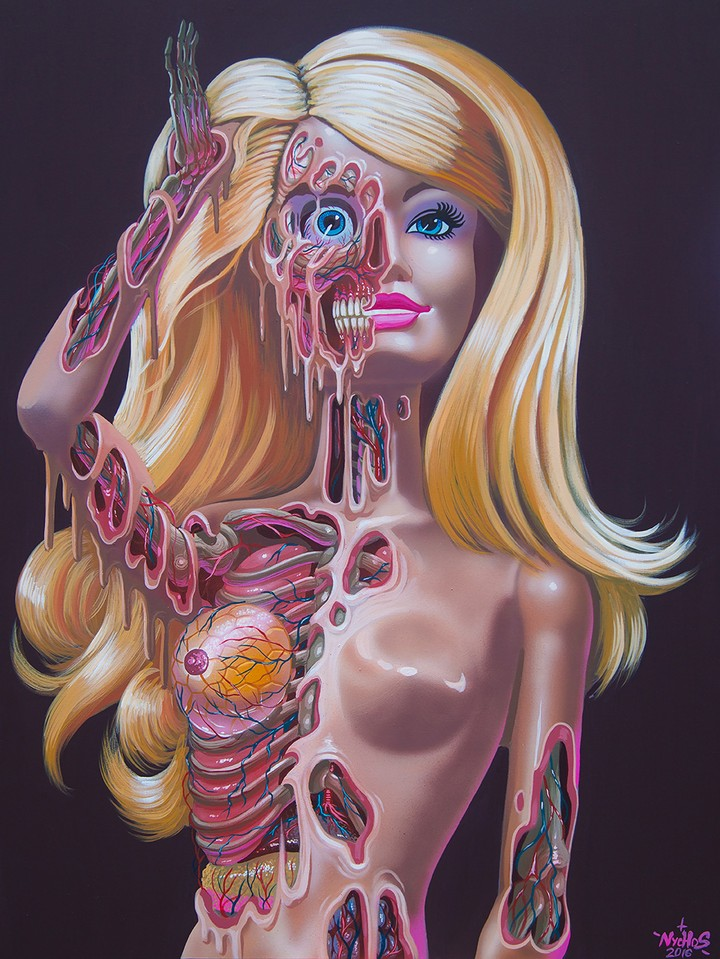 Gory Anatomical Portraits Show Beloved Icons' Blood and Guts