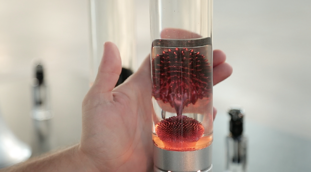 Captivating By Adding The Magnet To The Bottom Of The Lamp, Haines Makes The Ferrofluid  Globules Spike Constantly. As A Result, The Colored Ferrofluid Reflects The  ...