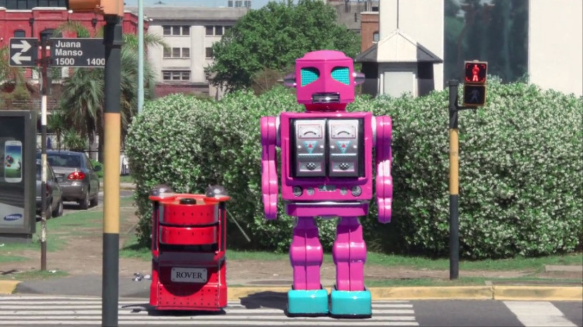 Life-Size Robots Hit the Streets - 116.1KB