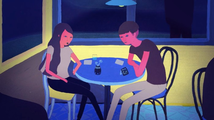 Neon Animation Captures the Worst Blind Date Since 'When Harry Met Sally'