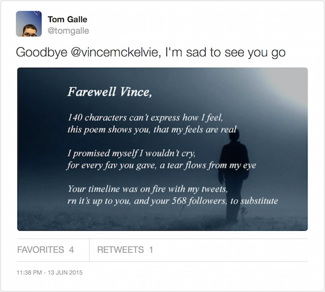 The Twitter App That Sends Goodbye Poems to Your Unfollowers