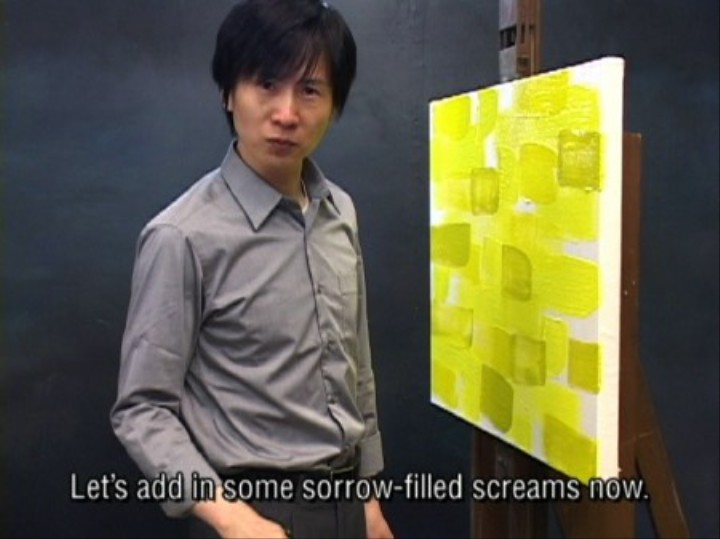 Watch a Man Scream at Yellow Paint