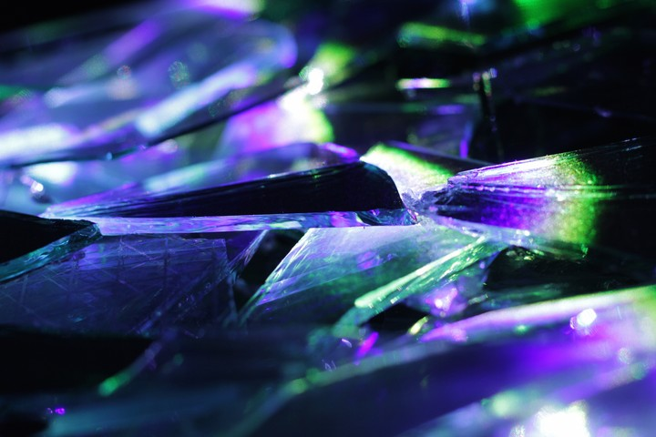 Artist Makes Rainbows with Broken Glass, Mirrors, and Lasers