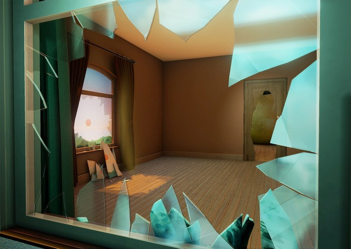 Explore a 3D Environment Made of Magritte Paintings