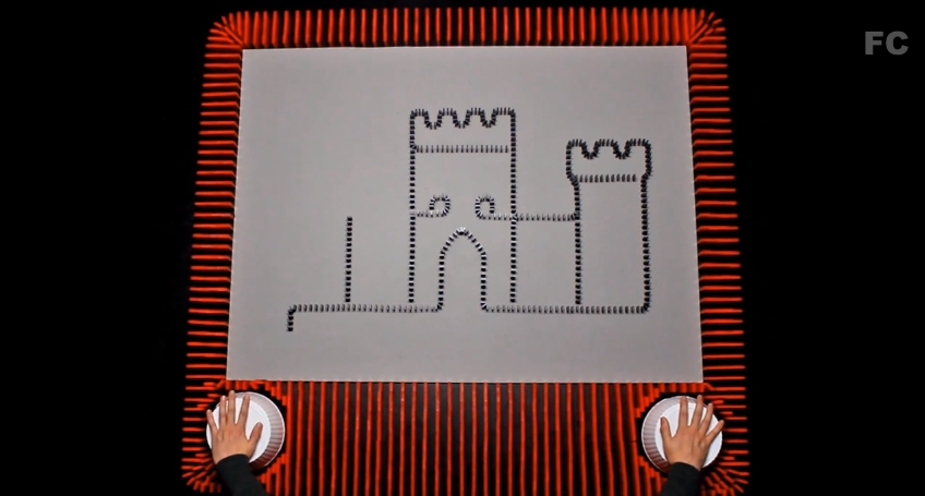 An Animator Built a Giant Etch A Sketch Made of Dominoes - VICE