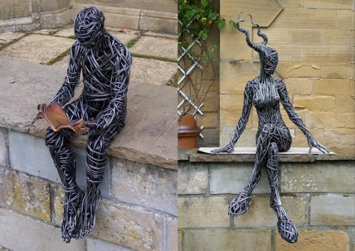 An Artist Uses Tangled Wires to Create Lifelike Sculptures