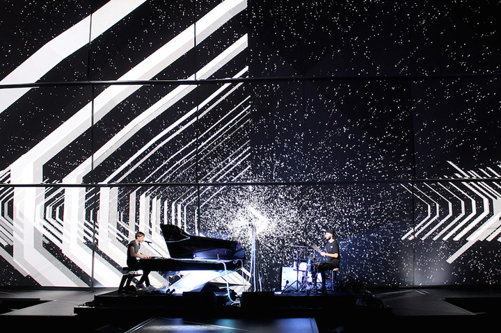 Light Show Turns Sound Waves into Projection-Mapped Galaxies
