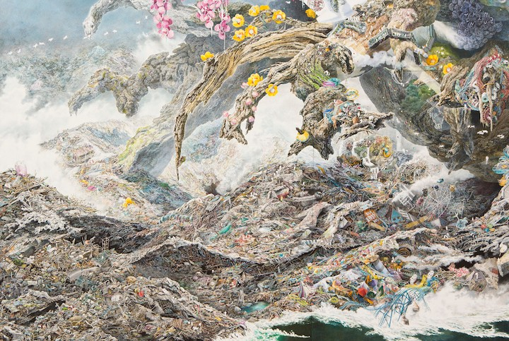 Japanese Artist Spends 3+ Years Drawing Massive, Incredibly Detailed Tsunami