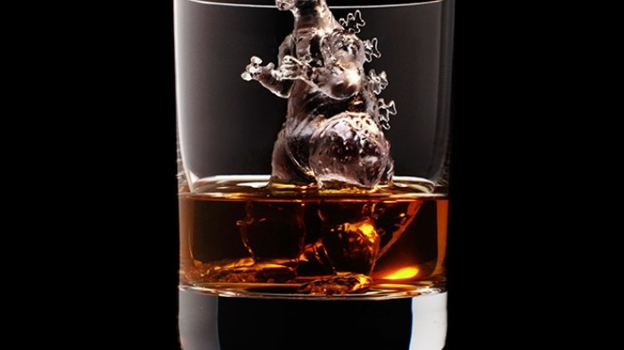 Godzilla Ice Cubes Keep Your Whisky Cold When It's Suntory Time