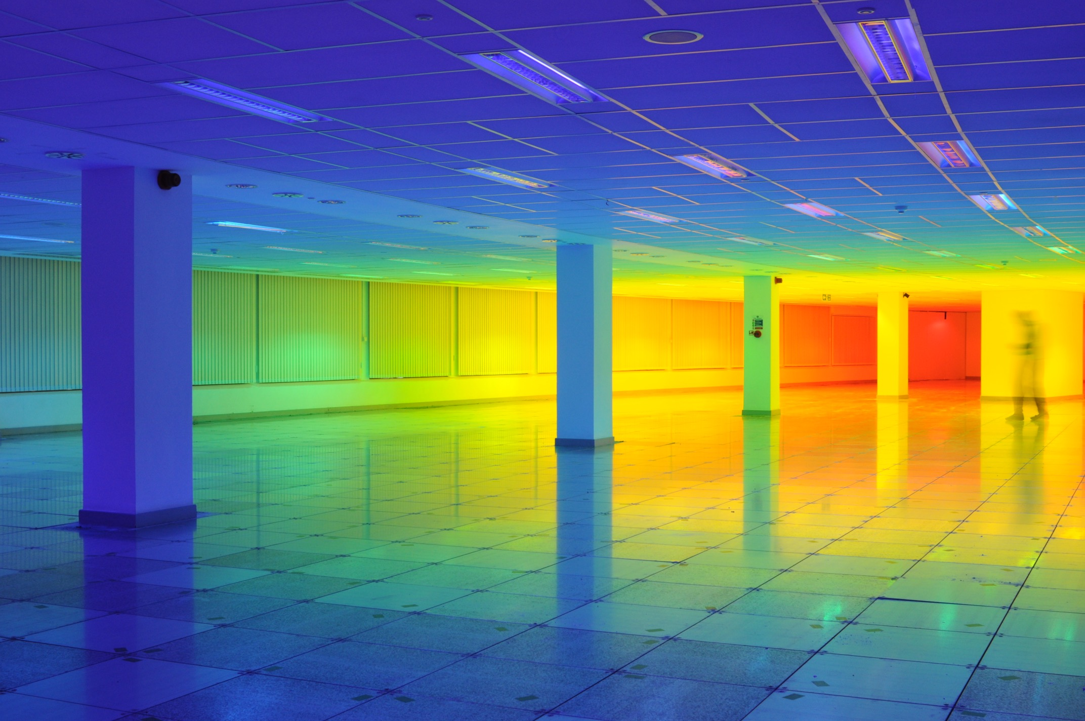 lose yourself inside a 10 000 square foot rainbow creators