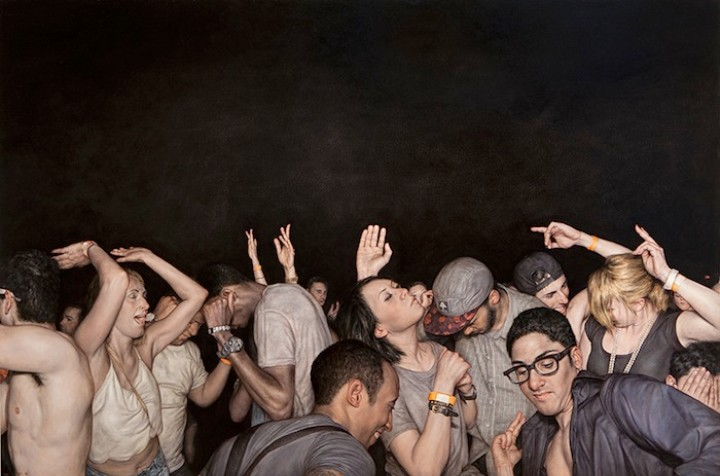 Writhing, Sweaty, and Ecstatic: The Realist Paintings of Dan Witz