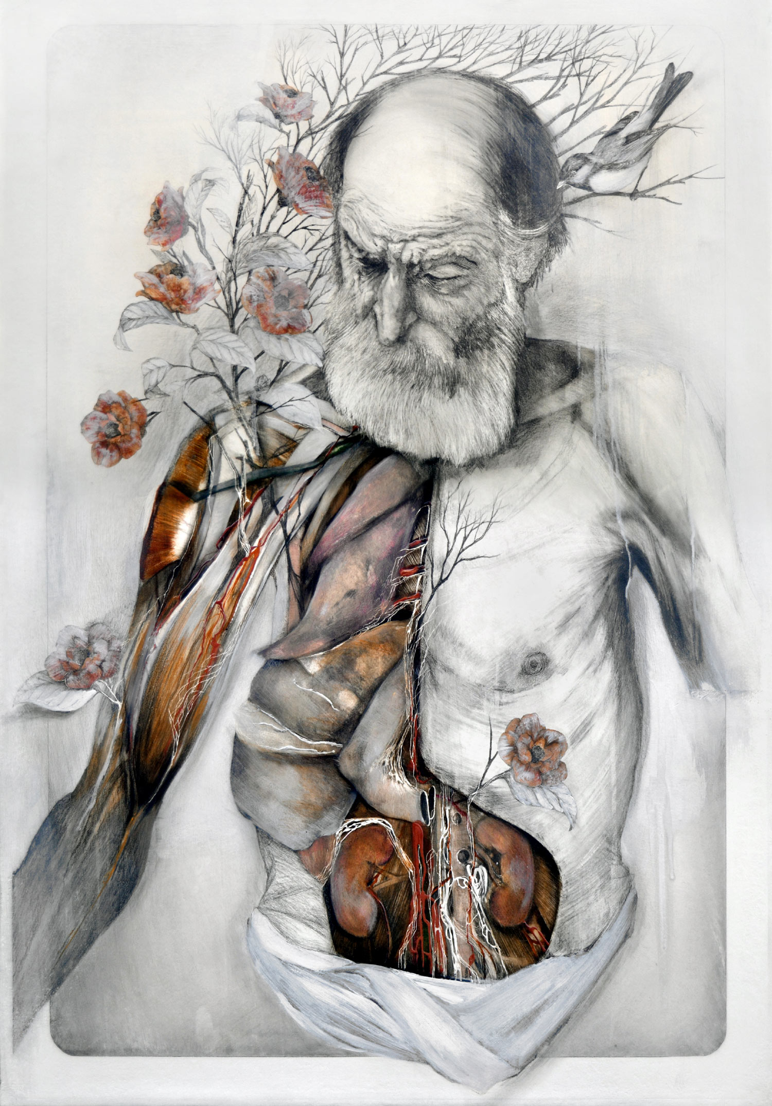 Plants Grow from Human Anatomy in Poetic Paintings of Decaying ...