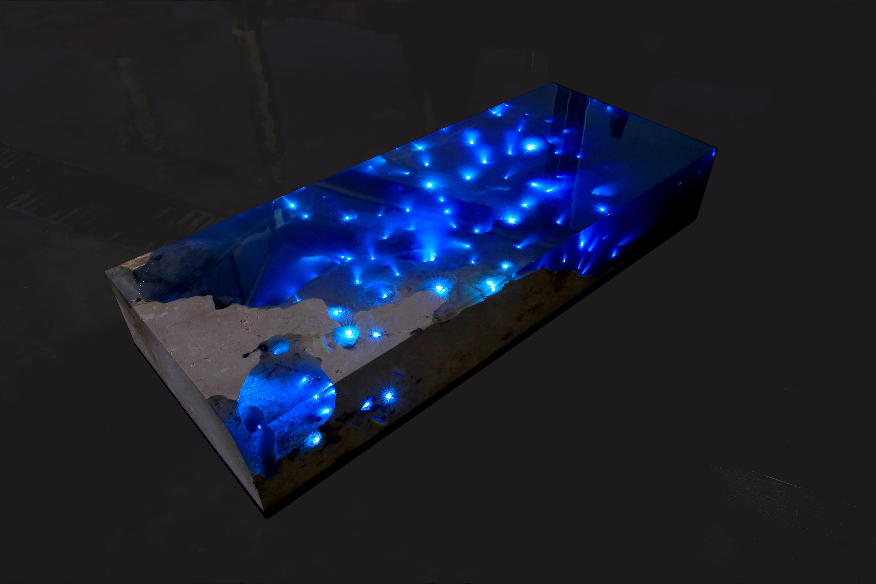 Seaside Cove or Starry Sky This Coffee Table Is Both Creators