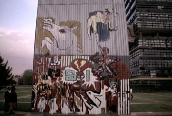 Resultado de imagen para mural efímero ciudad universitaria