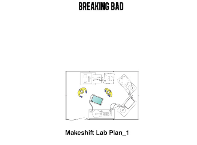 Take a 2d journey through the breaking bad set with interiors above with painstaking detail each corner of the doomed breaking bad rv is perfectly rendered in an architectural blueprint malvernweather Image collections