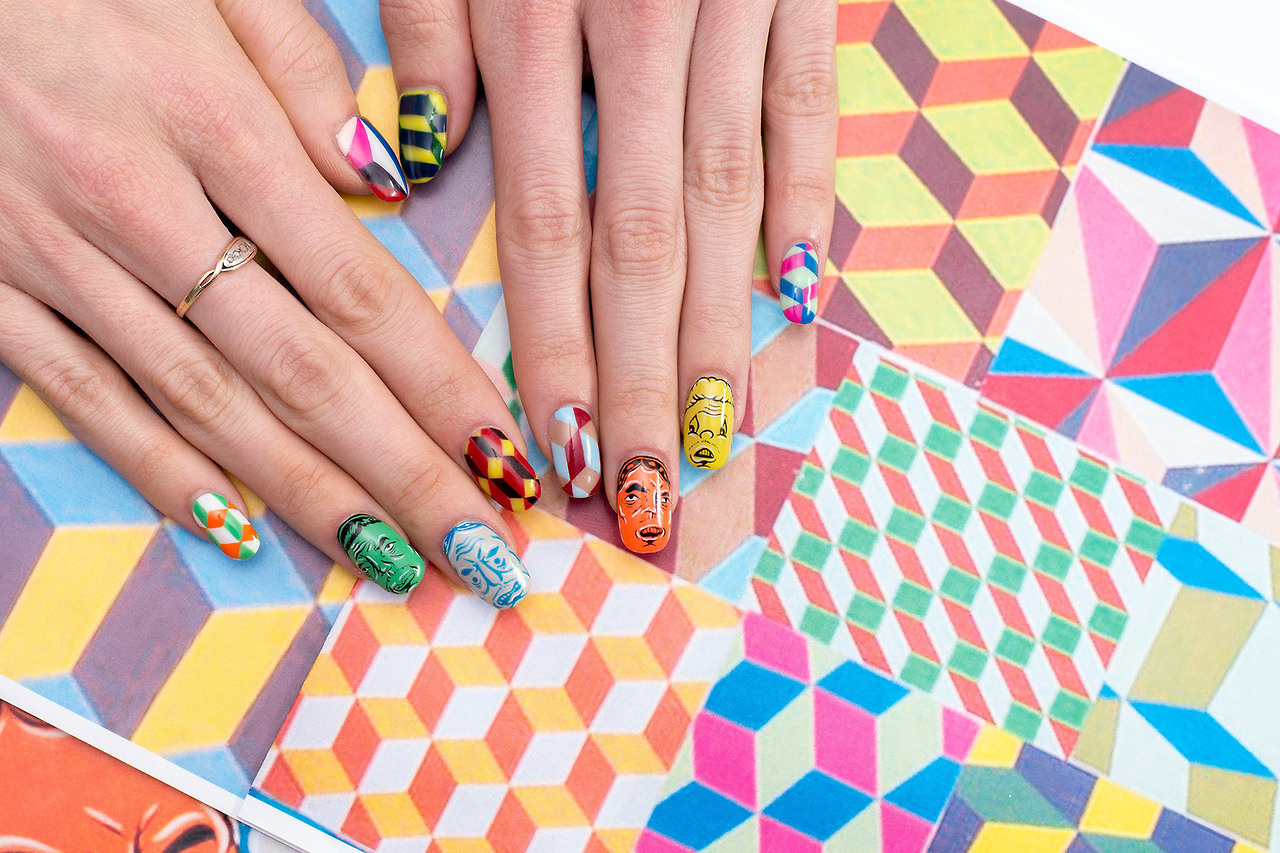 New site combines nail art and art history creators barry mcgee prinsesfo Images