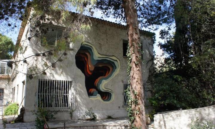 Enter the Optical Illusion Graffiti Void