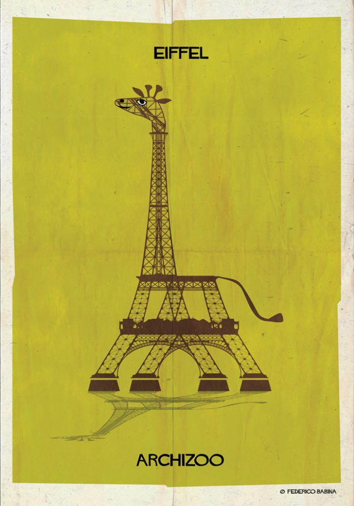 Iconic Buildings Find Their Spirit Animals in New Illustration Series