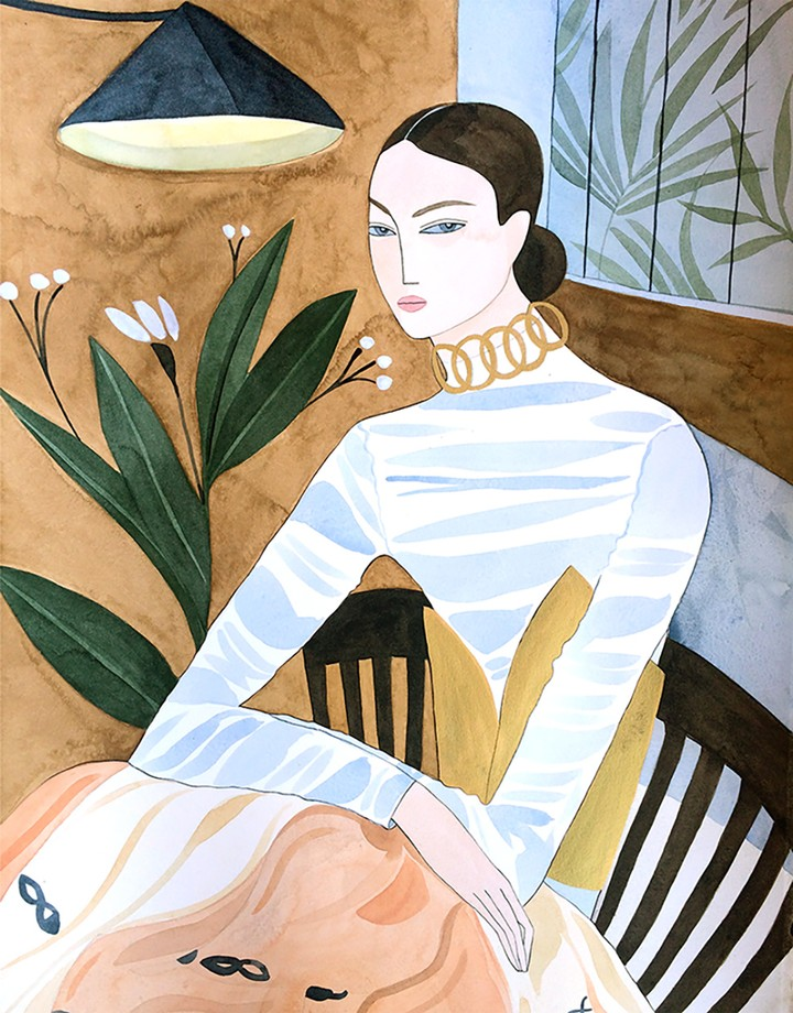 Accidental Fashion Illustrator Captures the Elegant Woman in Her Element