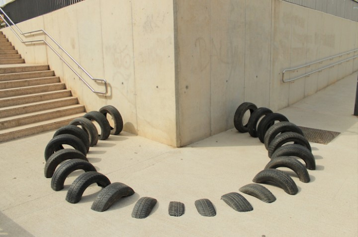 Sculptures Made with Old Tires Melt into Barcelona's Streets - VICE