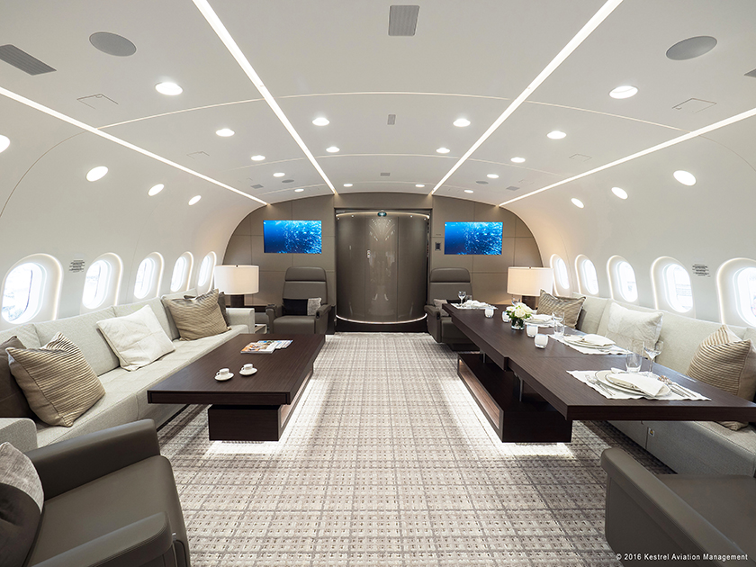 Larger Cabin Surfaces Present More Creative Opportunities But Too Much  Clutter Can Result In Uncomfortable Design. Photo: Kestrel Aviation  Management