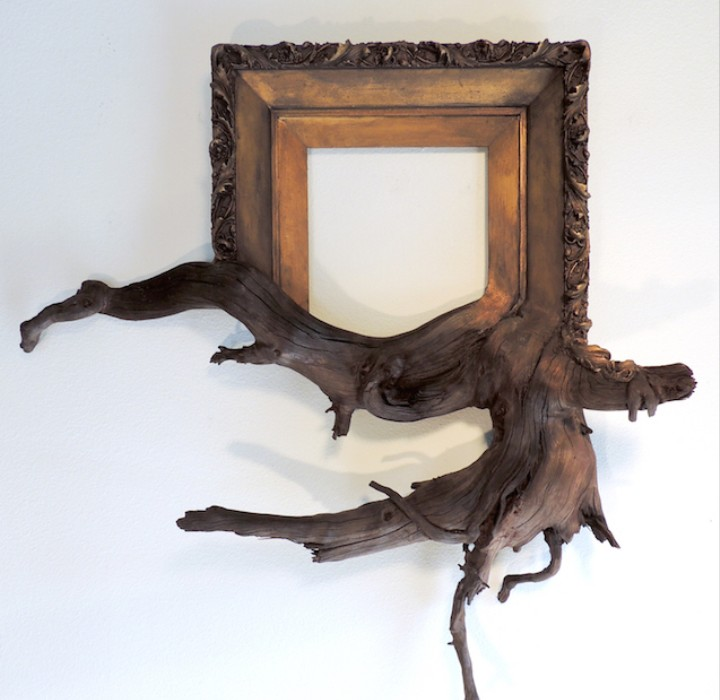 Twisted Picture Frames Fused with Tree Branches