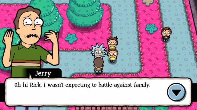 wubba lubba dub dub rick and morty becomes a pokémon style game