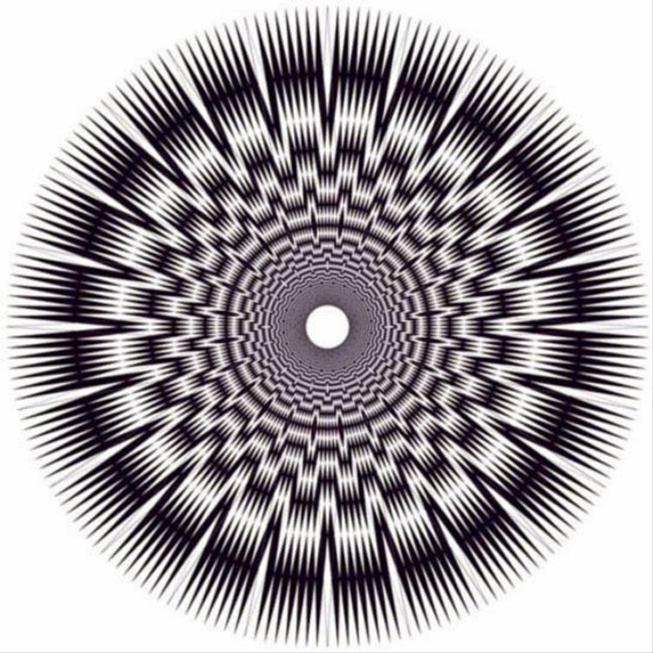 Black-and-White Op Art Visualizes Energy, Oscillations, and Frequencies