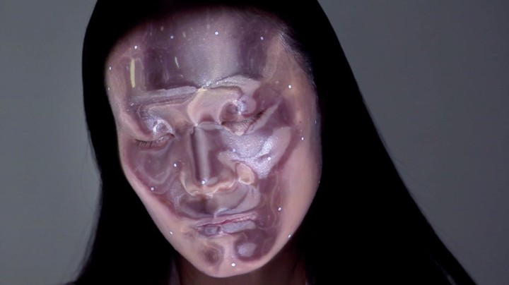 Watch A Model's Face Transform With Projection Mapped Makeup