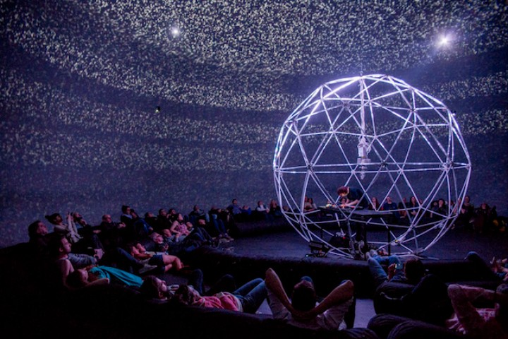 Electronic Music Sounds Better Inside an LED-Filled Geodesic Dome