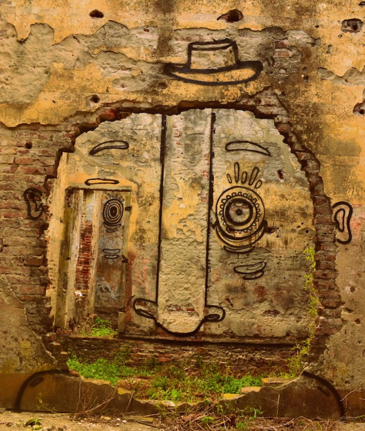 Meet the Street Artist Using Optical Illusions to Transform Buildings into Faces