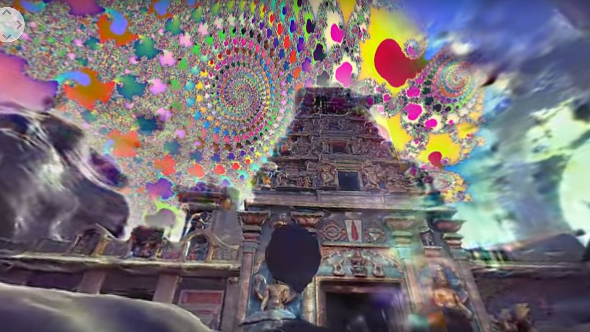 Drift Through Ancient Psychedelic Temples in a 360° Music