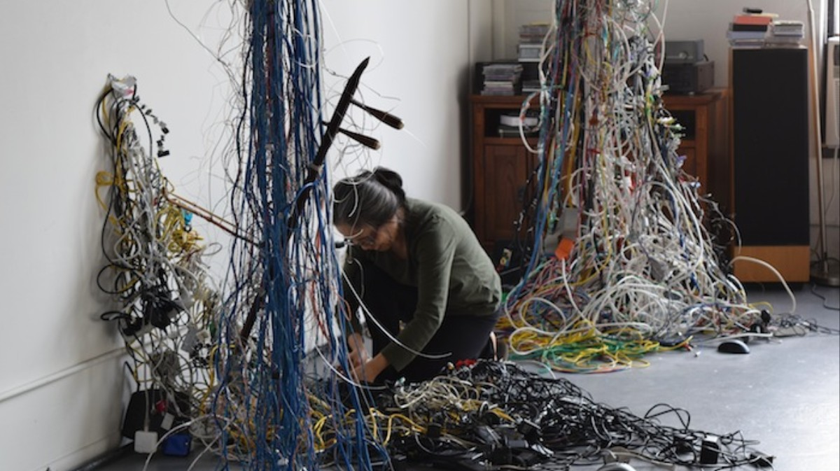 This Artist Crochets Sculptures from Cords and Controllers - Creators