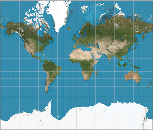 Mc escher inspired map wins japans good design award creators mercator projection wikimedia commons authagraph world map gumiabroncs Gallery