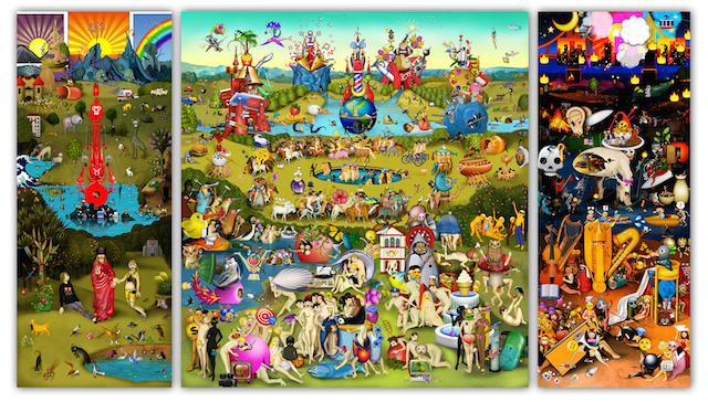 Resultado de imagen de imagen 'El jardín de las emoji delicias', obra de Carla Gannis.