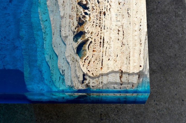 A River Runs Through These Marble & Resin Tables