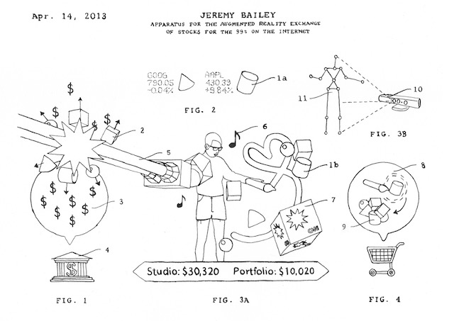 parody patent drawings highlight silicon valley greed