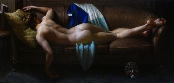 Everyday Nudes Chill on the Couch in Stunning Classical Paintings
