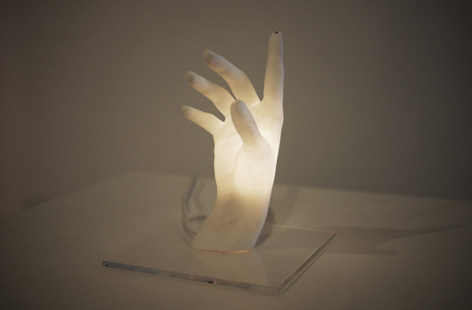 Hand Shaped Lamp Lights Up At Your Fingertips Vice