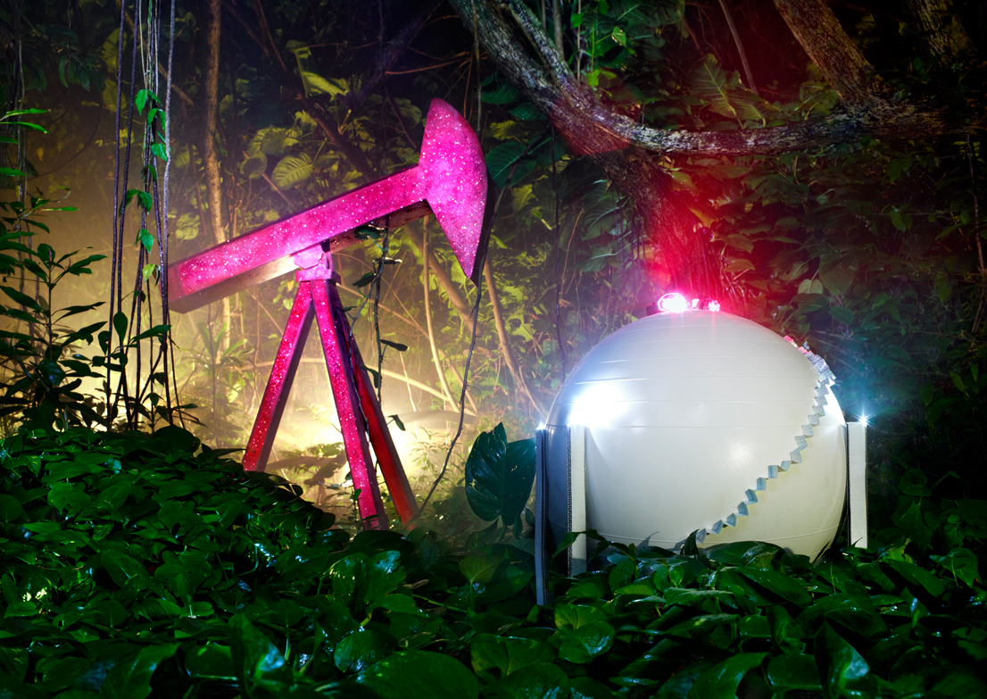 Find A Gas Station >> Surreal Photos of a Rainforest Filled with Gas Stations ...