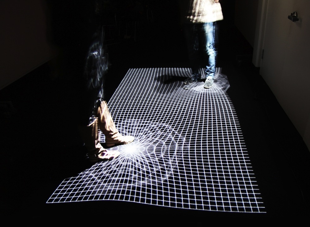 This Projection Mapped Installation Ripples Like Fabric