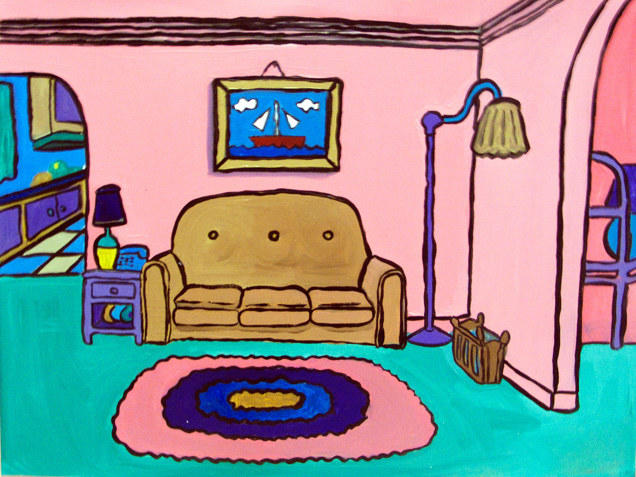 The Simpsonsu0027 Living Room. Images Courtesy The Artist